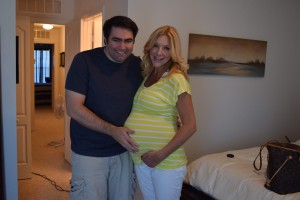 The beginning of 9 months! With the handsome hubby!