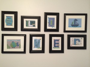 Framed Letters for O