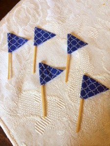 DIY cupcake picks! Nautical Flags!